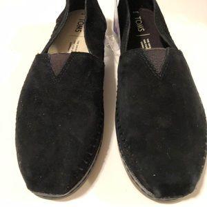 Toms black Nubuck Alpargata Women's size 6